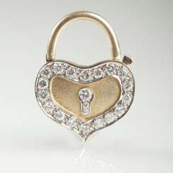 Small heart pendant with diamonds