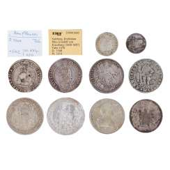 Exciting 10-piece collection of coins and medals, 16./17./18. Century, -
