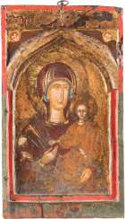 THE MIDDLE PART OF A TRIPTYCH WITH THE MOTHER OF GOD HODEGETRIA
