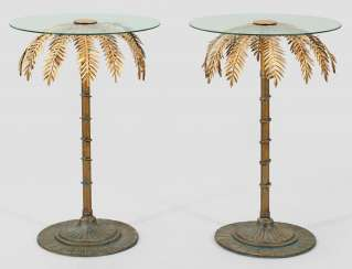 Pair of decorative side tables