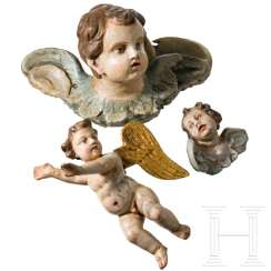 Set of three putti, southern German, 18./19. century