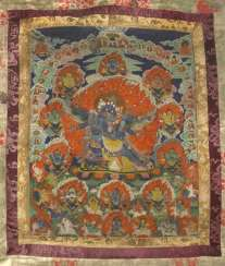 Thangka depicting the wrathful Hevajra