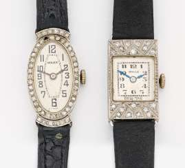 Mixed lot: two cocktail watches