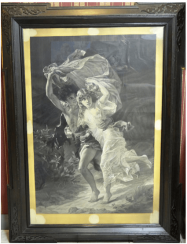 Copy of the painting by Pierre-Auguste cot