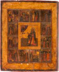 A RARE VITA ICON OF ST. SERGEI OF RADONEZH