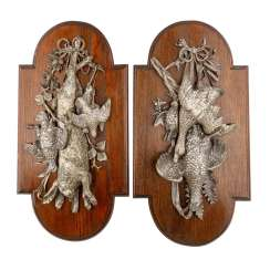 TWO WALL RELIEFS WITH HUNTING STYLE OF LIFE