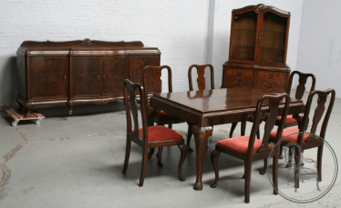 dining room set of furniture of the XX century