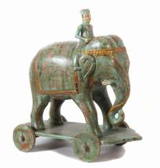 Elephant with rider as a draught Animal in India