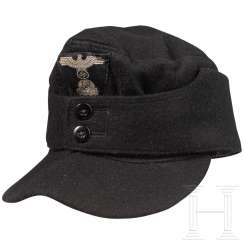 Field cap M 43 for the black special clothing of the SS tank crews