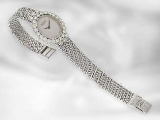 Watch: heavy vintage ladies watch, brand Bak & Leroy, 18K white gold, high quality, brilliant finishing, approx. 2ct