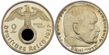 GERMANY 2 REICHSMARK 1937 A