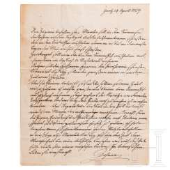 Archduke Johann of Austria (1782-1859) - handwritten letter with instructions to his hunters dated April 24, 1859