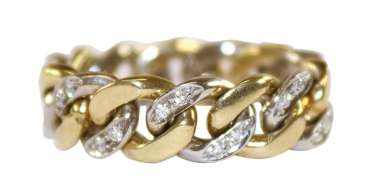 Chain ring diamond 585 WG / GG.