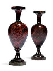 A PAIR OF RUSSIAN HARDSTONE VASES