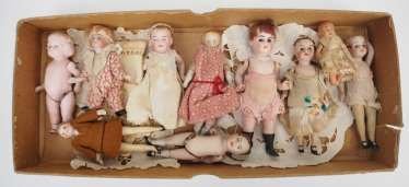 Collection Of Miniature Dolls.