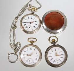 3 pocket watches, around 1920