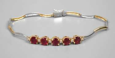 Bracelet with rubies and diamonds