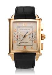 "GIRARD-PERREGAUX, ""VINTAGE"", 18K PINK GOLD, SPLIT SECONDS CHRONOGRAPH WITH JUMPING SECONDS, REF. 9021, NO. 13"