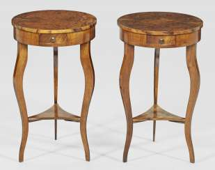 Pair of small Art Deco side tables