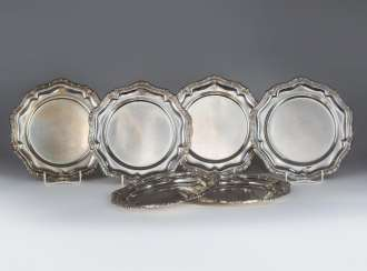 6 silver plate from the Service