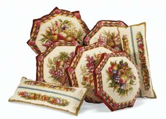 A GROUP OF BEAUVAIS TAPESTRY CUSHIONS