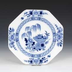 Plate with blue painting, MEISSEN