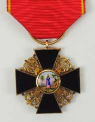 Russia: order of St. Anna, 2. Model (1810-1917), semi-miniature with black enamel.