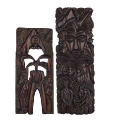 Two Carving Panels. IVORY COAST/AFRICA, 20. Century.