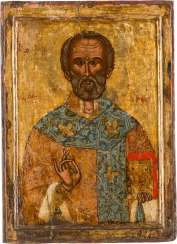 ICON WITH SAINT NICHOLAS OF MYRA Greece