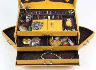 Items fashion jewelry in jewelry case
