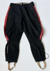 Russia: boot pants. Black cloth