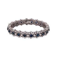 Bracelet set with 20 sapphires, together CA. 6 ct