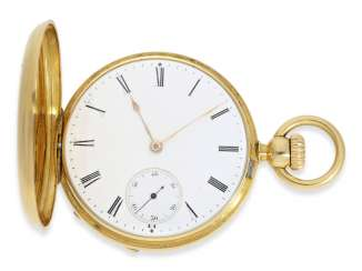 Pocket watch: one of the first Patek Philippe Anker chronometer with crown lift, No. 18438, Geneva, CA. 1860