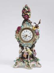 Pendule. Meissen, around 1900