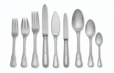 A FRENCH SILVER FLATWARE SERVICE