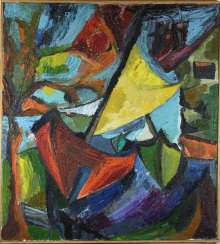 Abstract Composition Sailing Boats Of The 20th Century