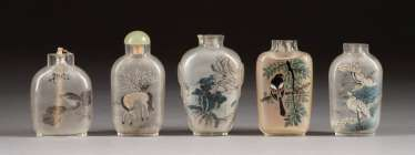 FIVE SNUFFBOTTLES China