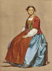 Seated Sorrentine Woman - Italian Shepherd