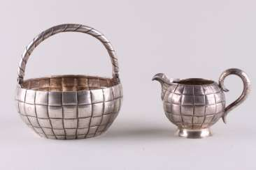 Sugar bowl and milk jug