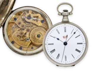Pocket watch: fine pocket watch for the Chinese market with center seconds, approx. 1860