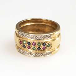 Band ring with different stones