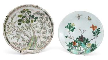 TWO ROUND BOWLS, CHINA,