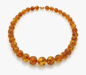 Excellent honey yellow amber necklace