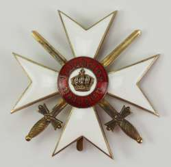 Württemberg: order of the Württemberg crown, cross of honour with swords.