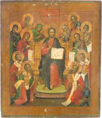 LARGE-SCALE ICON OF THE EXTENDED DEESIS WITH SELECTED SAINTS