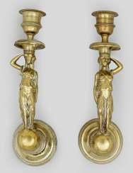 Pair of small Empire wall sconces
