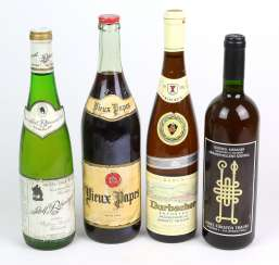 4 bottles of wine from 1977 to 1996