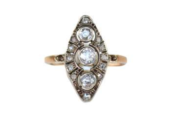 Art Deco Brillantring,
