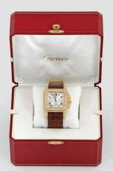Men's watch with diamonds by Cartier