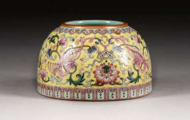 BRUSH WASHER WITH FLORAL DECOR China